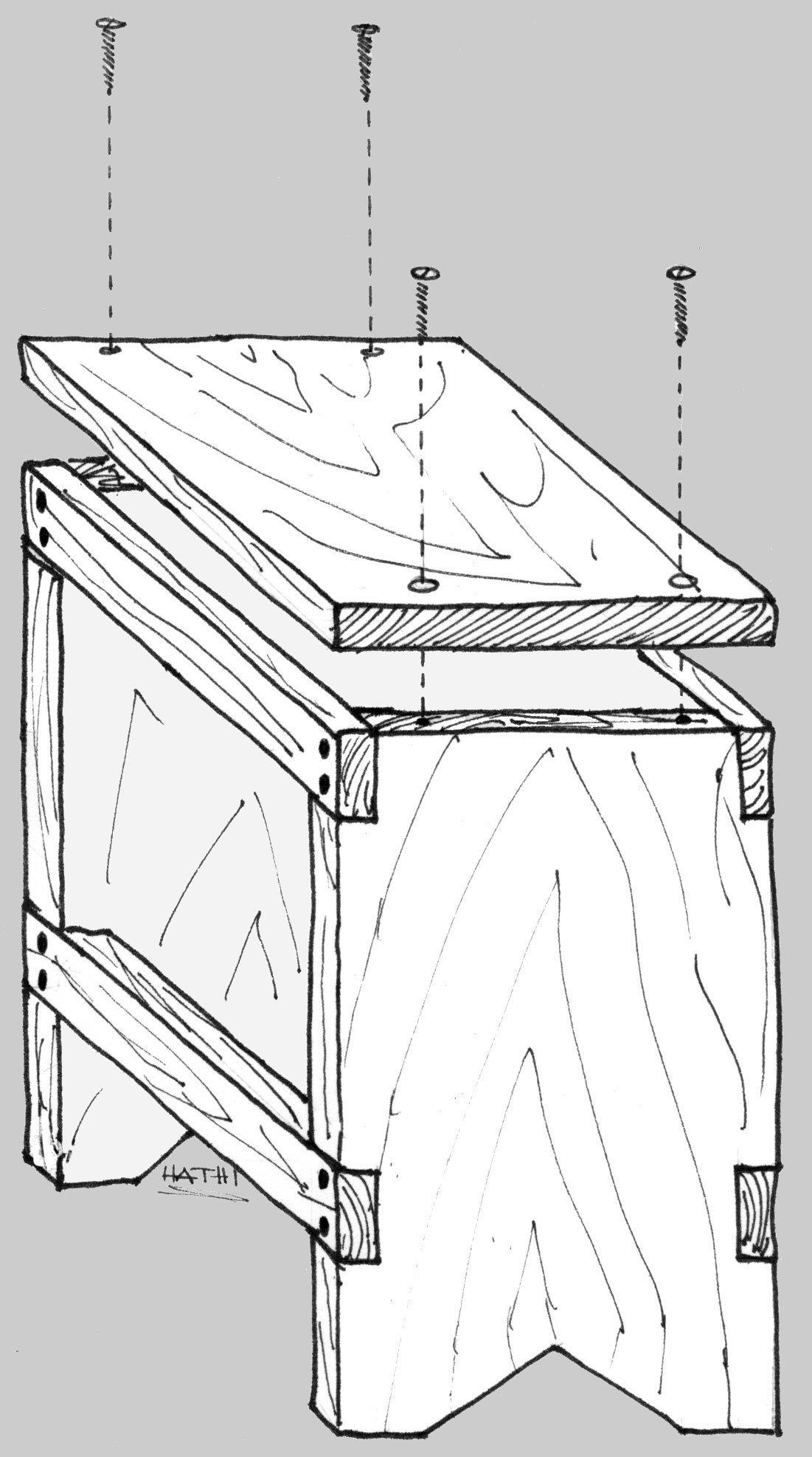 Lo sagabello di hathi for Costruire uno scuro in legno